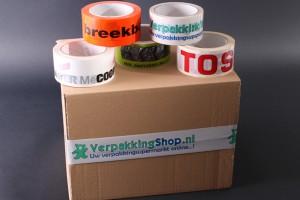 Bedrukte tape voor dozen