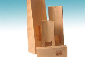Papieren zakjes met venster