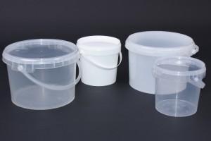 Plastic emmertjes met deksel